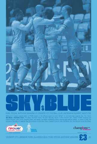 CCFC Official Programmes issue 25 v SWINDON TOWN (12-13)