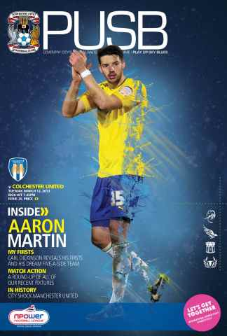 CCFC Official Programmes issue 26 v COLCHESTER UNITED (12-13)