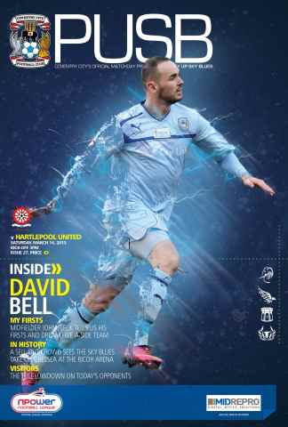 CCFC Official Programmes issue 27 v HARTLEPOOL UNITED (12-13)