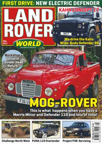 Landrover World issue Electric Defender