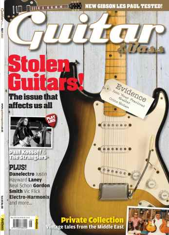 Guitar & Bass Magazine issue May 2013 Stolen Guitars