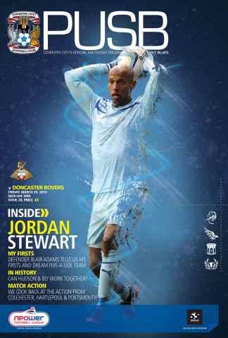 CCFC Official Programmes issue 28 v DONCASTER ROVERS (12-13)