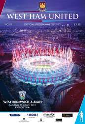 West Ham Utd Official Programmes issue WEST HAM UNITED V WBA