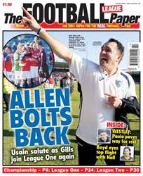 The Football League Paper issue Sunday 7th April 2013