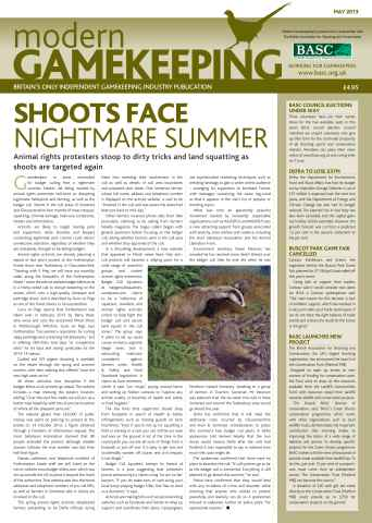 Modern Gamekeeping issue MAY 2013