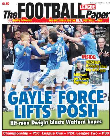 The Football League Paper issue Sunday 14th April 2013