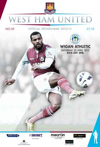 West Ham Utd Official Programmes issue WEST HAM UNITED V WIGAN ATHLETIC