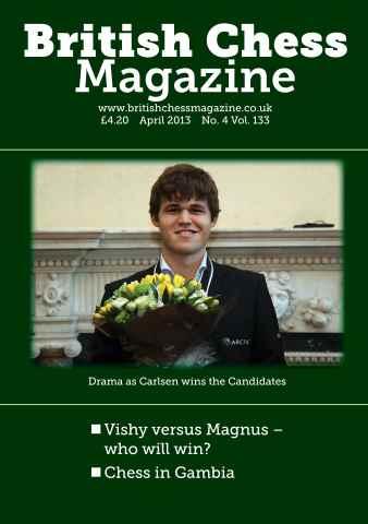 British Chess Magazine issue April 2013
