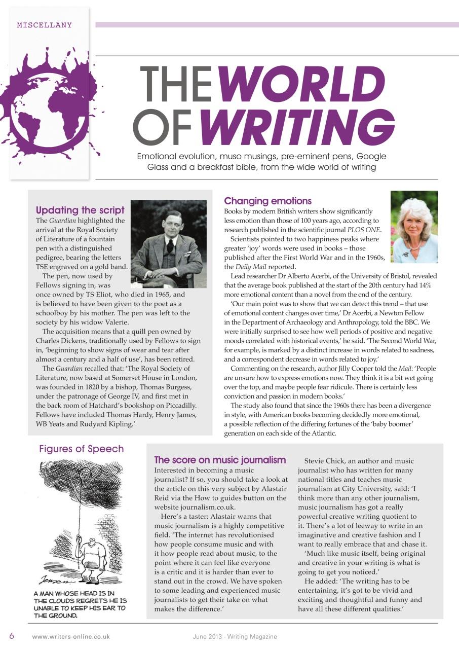 Writing Magazine June 2013 | Pocketmags com