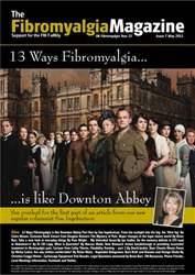 Fibromyalgia Magazine May 2013 issue Fibromyalgia Magazine May 2013
