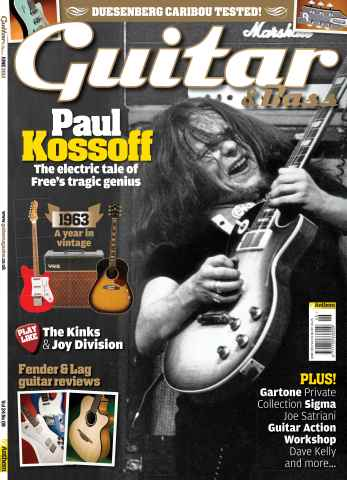 Guitar & Bass Magazine issue June 2013 Paul Kossoff