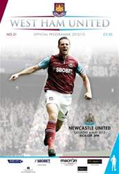 West Ham Utd Official Programmes issue WEST HAM UNITED V NEWCASTLE