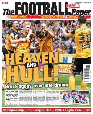 The Football League Paper issue Sunday 5th May 2013