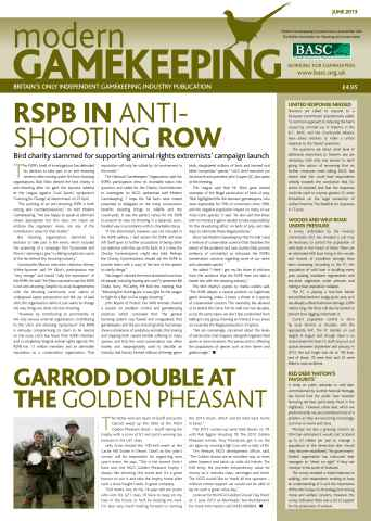 Modern Gamekeeping issue JUNE 2013