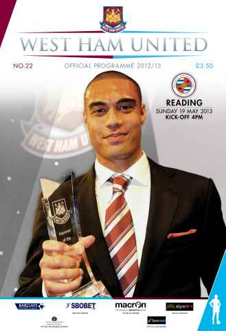 West Ham Utd Official Programmes issue WEST HAM UNITED V READING