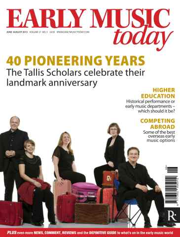Early Music Today issue June_August 2013