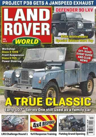 Landrover World issue Family fun in a classic