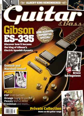 Guitar & Bass Magazine issue July 2013 Gibson ES-335