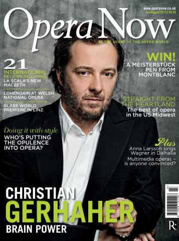 Opera Now issue July - August