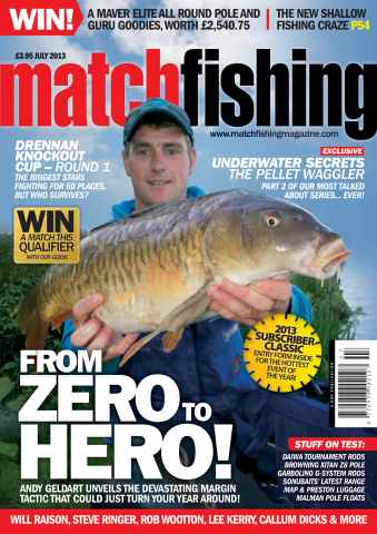 Match Fishing issue July - 2013