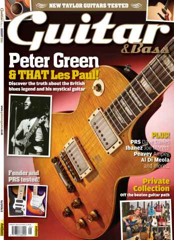 Guitar & Bass Magazine issue August 2013 Peter Green
