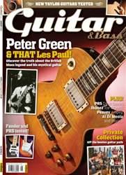 Guitar & Bass Magazine issue August 2013 Peter Green