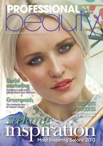 Professional Beauty issue Professional Beauty July 2013