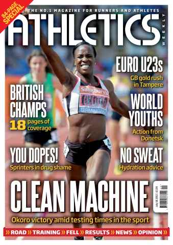 Athletics Weekly issue AW July 18 2013