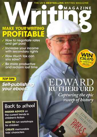 Writing Magazine issue Writing Magazine September 2013