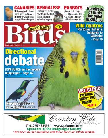 Cage & Aviary Birds issue Cage & Aviary Birds 5763