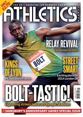 Athletics Weekly issue AW August 1 2013