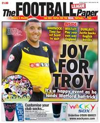The Football League Paper issue Sunday 11th August 2013