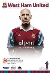 West Ham Utd Official Programmes issue WEST HAM UNITED V CARDIFF CITY