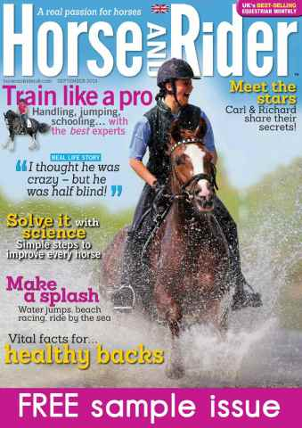 Horse&Rider Magazine - UK equestrian magazine for Horse and Rider issue Sample Issue