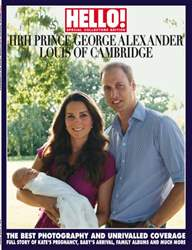 Hello! Magazine issue HELLO MAGAZINE ROYAL BABY SUP
