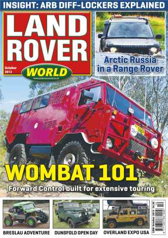 Landrover World issue Landrover World October 2013
