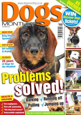 Dogs Monthly issue Dogs Monthly October 2013