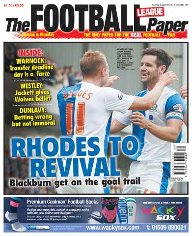 The Football League Paper issue Sunday 25th August 2013