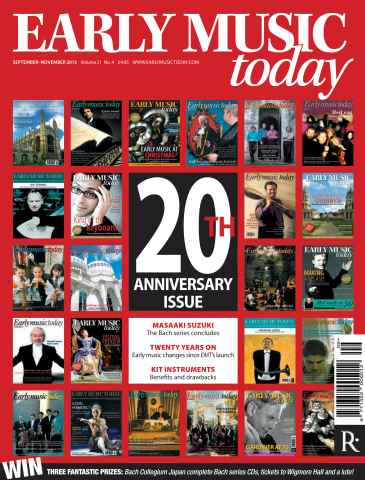 Early Music Today issue Sept - Nov 2013