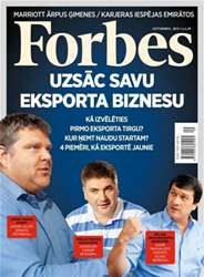 Forbes Latvia Magazine Cover