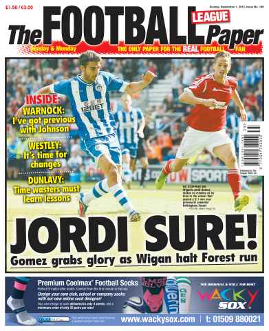 The Football League Paper issue Sunday 1st September 2013