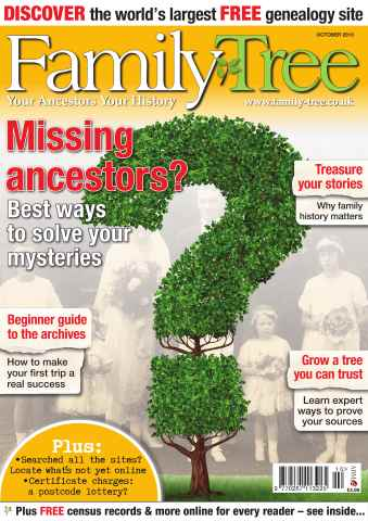 Family Tree issue Family Tree October 2013