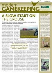 Modern Gamekeeping issue SEPTEMBER 2013