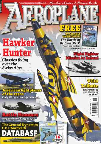 Aeroplane issue No.487 Hawker Hunter