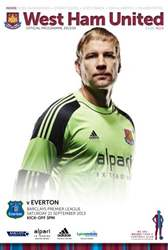 West Ham Utd Official Programmes issue West Ham v Everton