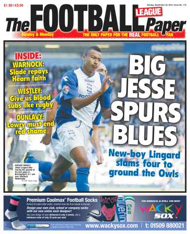 The Football League Paper issue Sunday 22nd September 2013