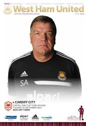 West Ham Utd Official Programmes issue WEST HAM V CARDIFF CITY COC