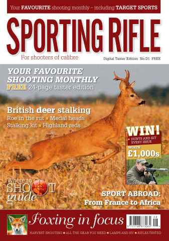 Sporting Rifle issue FREE Taster Issue