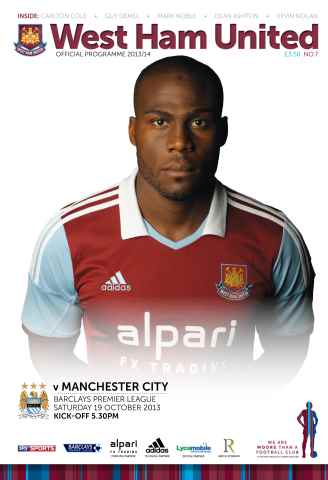 West Ham Utd Official Programmes issue Weast Ham v Manchester City
