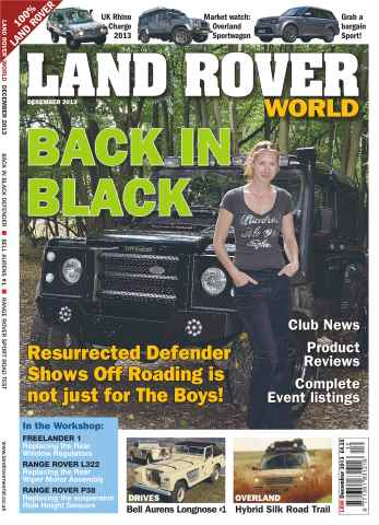 Landrover World issue Back in Black